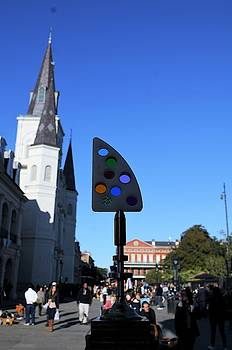 Fine Art America Tony Award Visits The French Quarter At Jackson Square In New Orleans LA by Michael Hoard