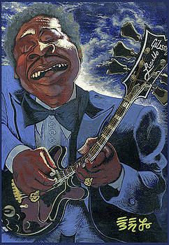 Finessing Lucille - BB King by Ebenlo - Painter Of Song