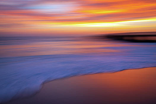 Fire and Ice Ocean Abstract by R Scott Duncan