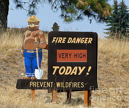 Fire Danger Sign, Montana by Catherine Sherman