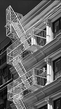 Fire Escape New York City by Dave Mills