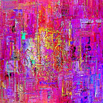 Fire In My Heart Abstract by VIVA Anderson