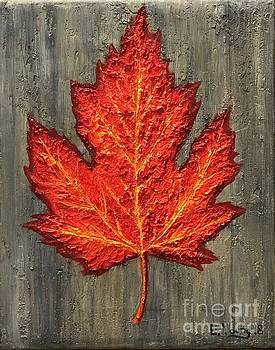 Fire Leaf by Emily Young
