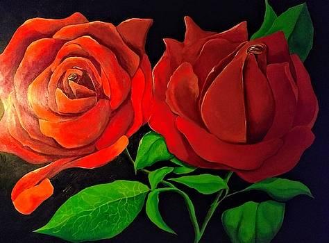 Fire Rose by John Eric Goines