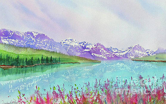 Fireweed at Lake Sherburne by Donlyn Arbuthnot