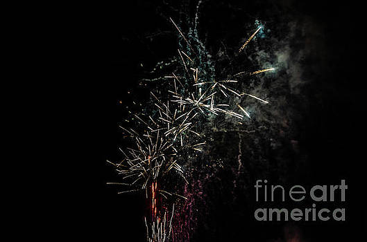 Fireworks Display with Multiple Colors by Sue Smith