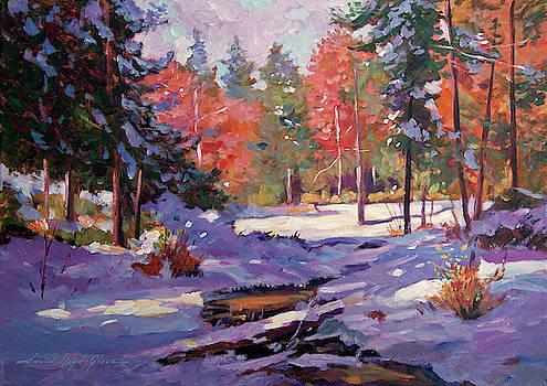 First Snow Autumn by David Lloyd Glover
