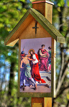 First Station of the Cross - Jesus is Condemned to Death - Matthew 27, Verses 11-26 by Michael Mazaika
