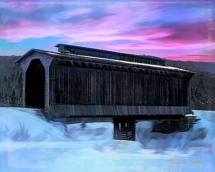 Fisher raiilroad Covered Bridge Wolcott Vermont. by Rusty R Smith