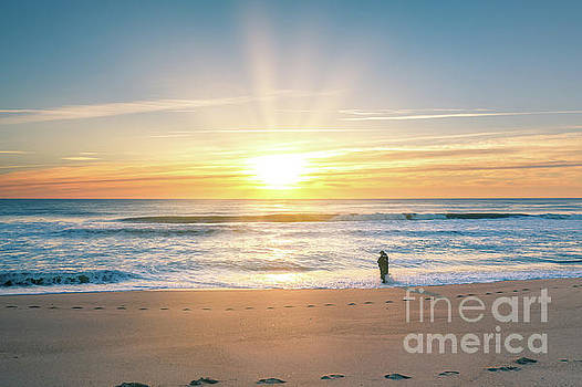 Fisherman At Sunrise by Michael Ver Sprill