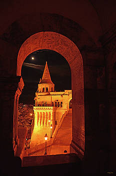 Fisherman's Bastion by the Light of the Moon by Kathy Yates