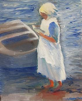 Fisherwoman by the Seaboat by Lilly Ramphal