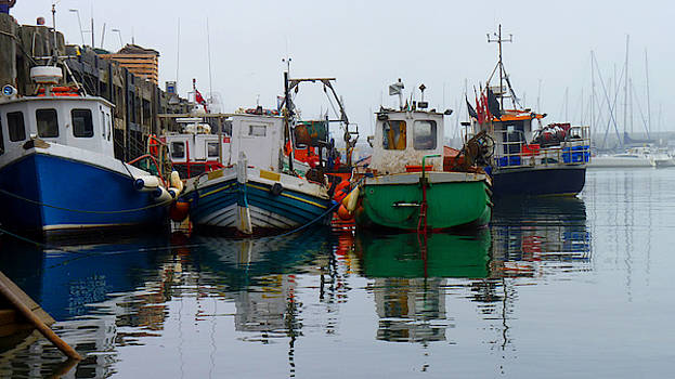 Fishing Boats in Scarborough Harbour by Chris Gill
