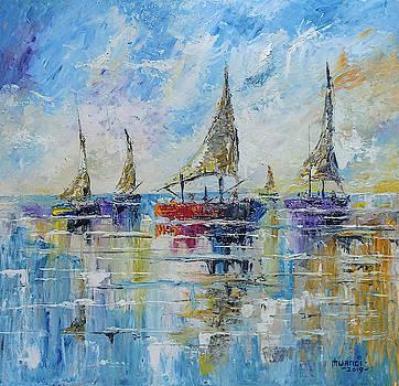 Five Boats by Anthony Mwangi