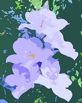 Five Purple Flowers Cutout by Barbie Corbett-Newmin