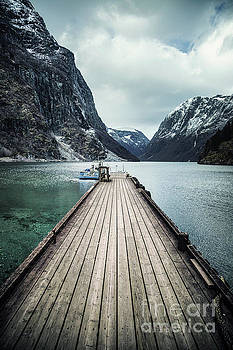 Fjord At The End Of The Pier by Evelina Kremsdorf