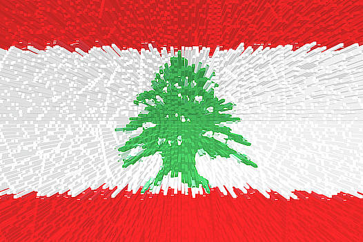 Flag of Lebanon - Extruded by Grant Osborne
