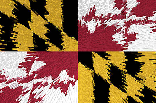 Flag of Maryland - Extruded by Grant Osborne