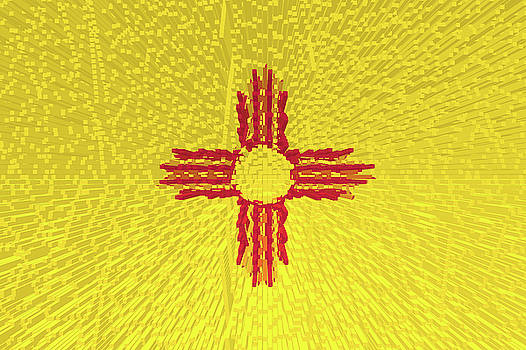 Flag of New Mexico - Extruded by Grant Osborne