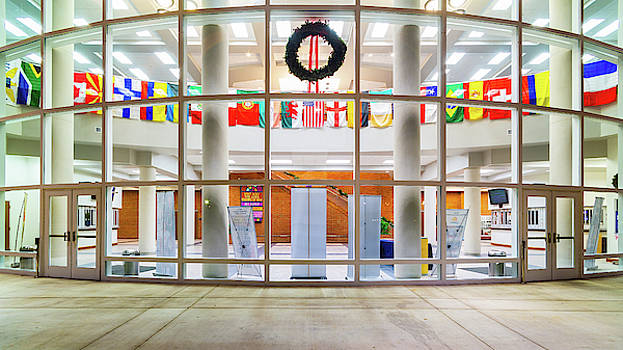 Flags at the King University Student Center Complex by Greg Booher