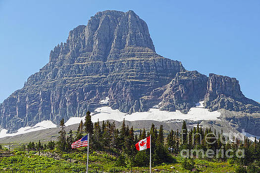 Flags, Logan Pass, Clements Mountain by Catherine Sherman