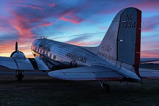 Flagship Detroit at Sunrise by Chris Buff