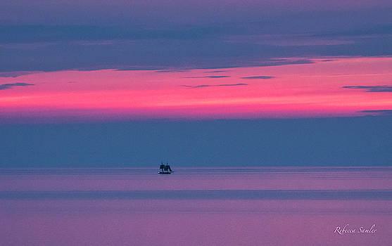 Flagship Niagara Sailing into the Golden Hour by Rebecca Samler