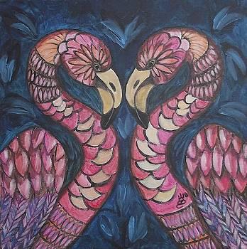 Flamingo Love by Kim Selig