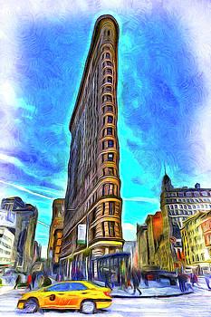 Flatiron Building Van Gogh by David Pyatt