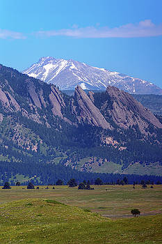 Flatirons Pointing to Longs Peak by James BO Insogna