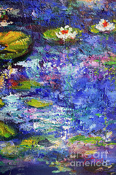 Ginette Callaway - Floating Lilies Oil Painting