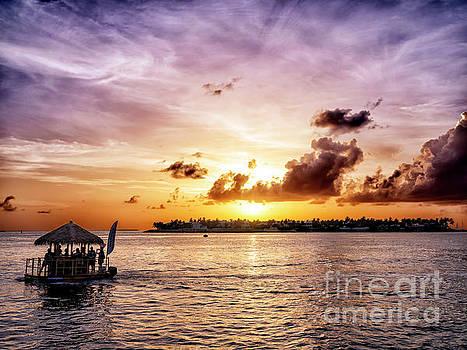 John Rizzuto - Floating Tiki Bar at Sunset in Key West