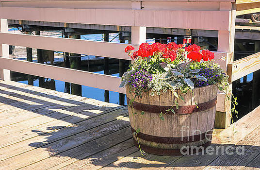 Floral decoration at the marina by Claudia M Photography