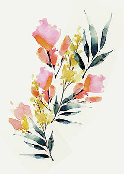 Floral Ii by A.v. Art