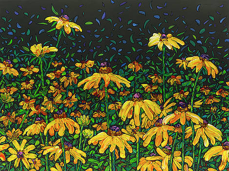 Floral Interpretation - Black-Eyed Susans by James W Johnson