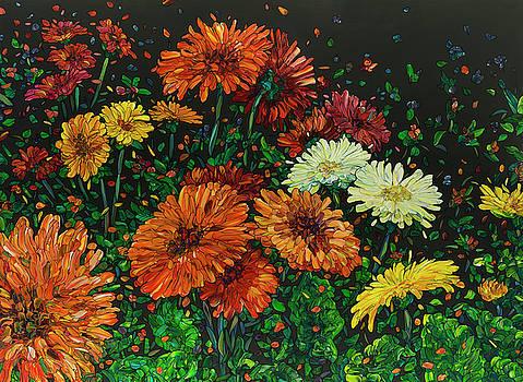 Floral Interpretation - Gerber Daisies by James W Johnson