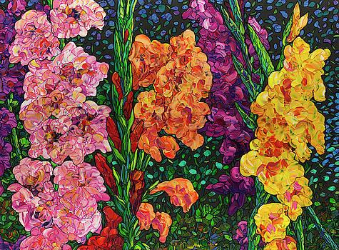 Floral Interpretation - Gladiolus by James W Johnson