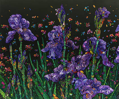 Floral Interpretation - Irises by James W Johnson