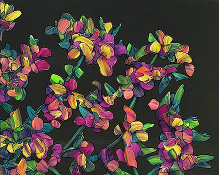 Floral Interpretation - Lantana Study by James W Johnson