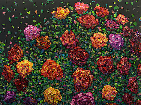 Floral Interpretation - Roses by James W Johnson