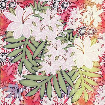 Floral Mango Mix Light Shifting by Priscilla Wolfe