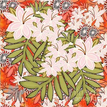 Floral Mango Mix by Priscilla Wolfe
