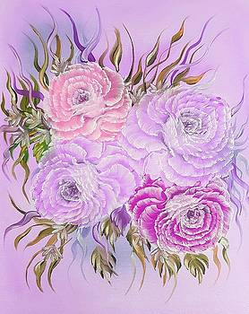 Floral pretty roses special pink by Angela Whitehouse