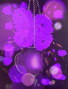 Floral roses with so much passion stardust purple  by Angela Whitehouse