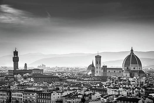 Florence black and white by Delphimages Photo Creations