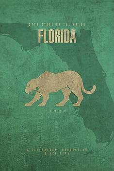 Florida Poster Wall Art by David Bowman
