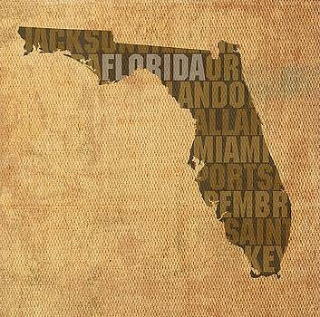 Florida State Words Wall Art by David Bowman