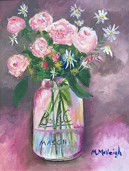 Flower Bouquet In A Ball Jar by Marita McVeigh