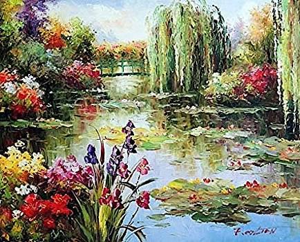 Flower   garden  on  the   Lake by Bernel Zoleta