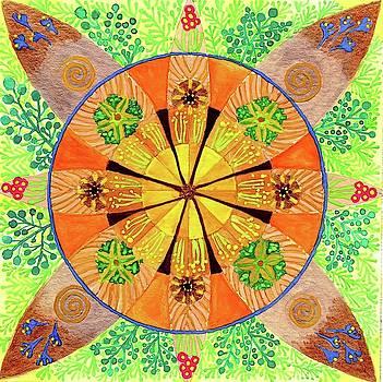 Flower Mandala by Sandy Thurlow